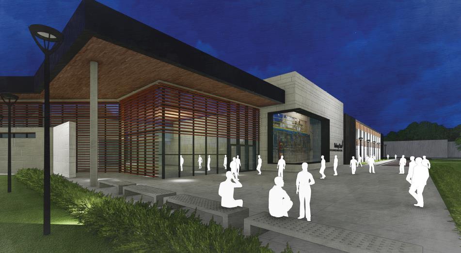 Front of Building - Advanced Manufacturing Center - Bishop State Community College - Bishop State Foundation - Mobile AL