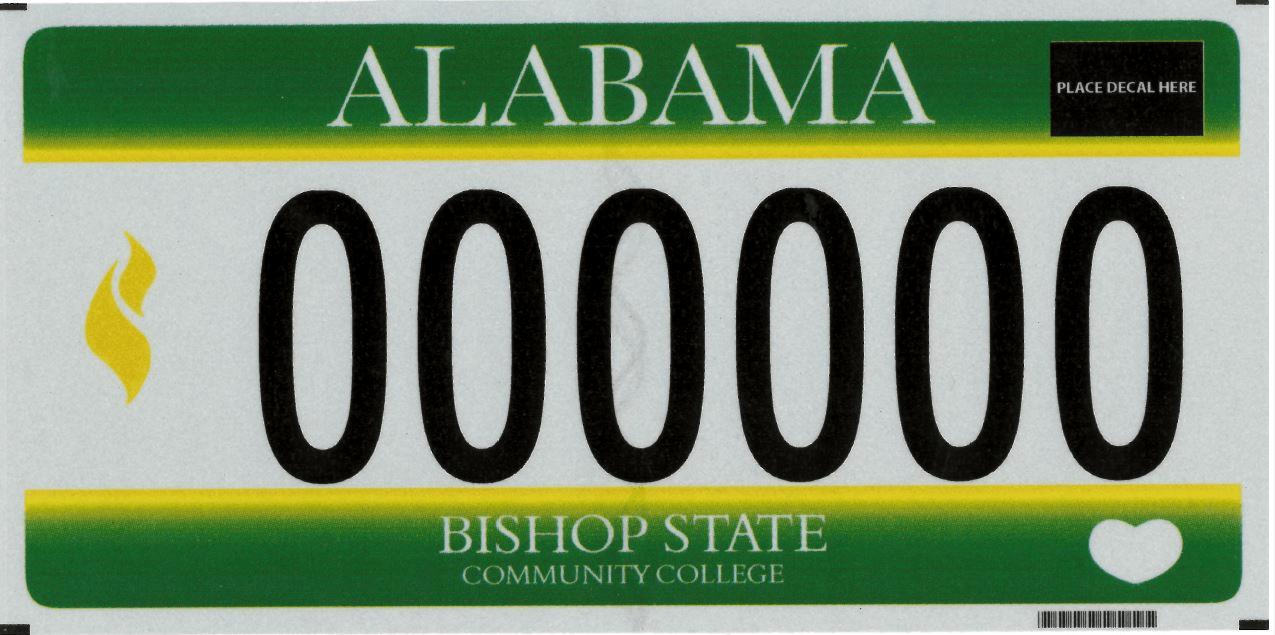 Bishop State Community College Car Tag