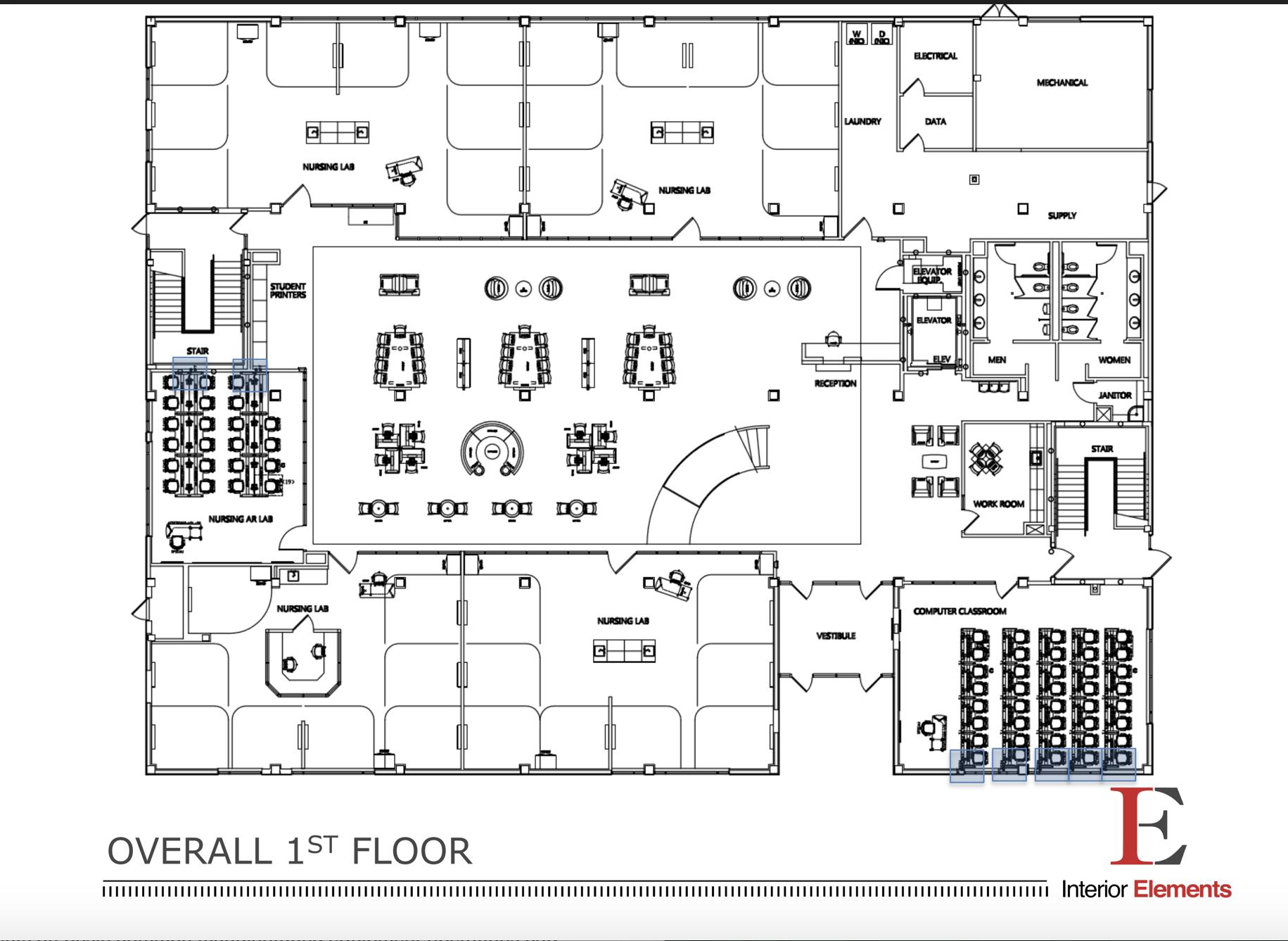Health Sciences Building 1st Floor - Bishop State Community College - Bishop State Foundation - Mobile AL