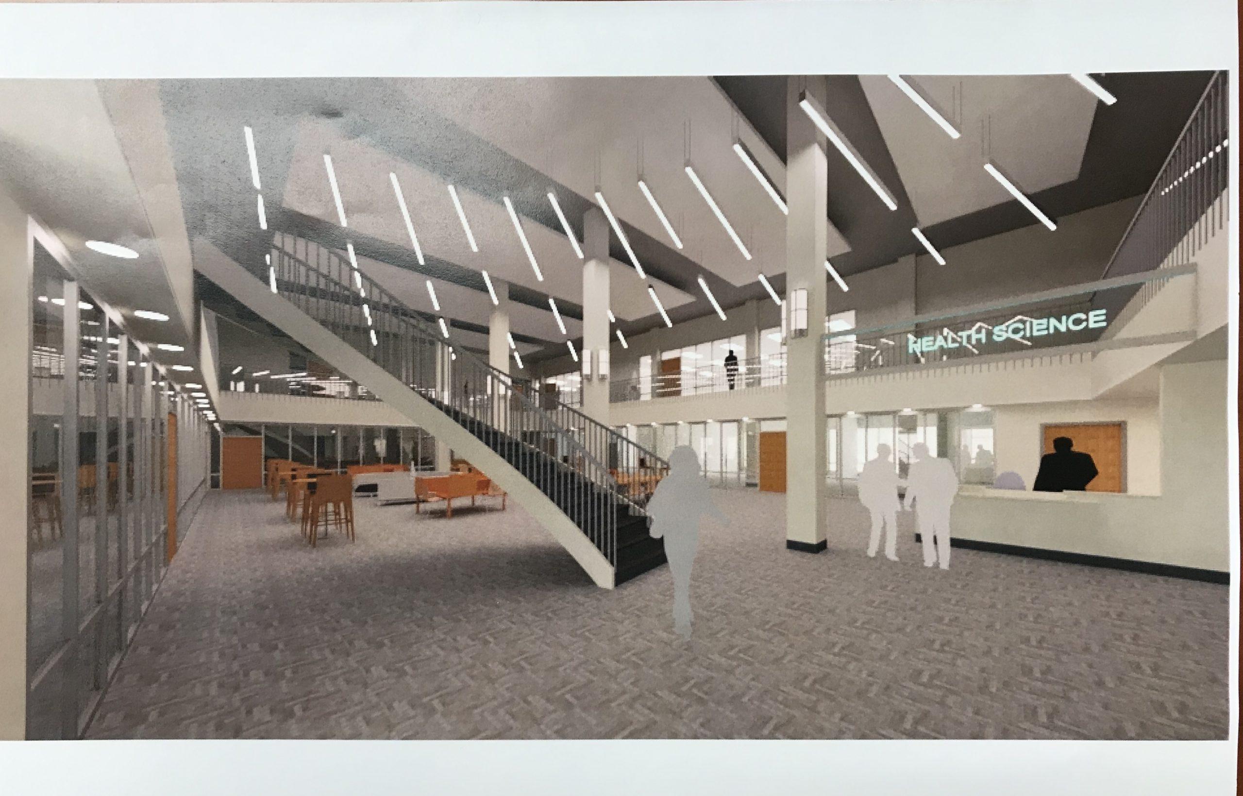 Health Sciences Building Student Common Area - Bishop State Community College - Bishop State Foundation - Mobile AL