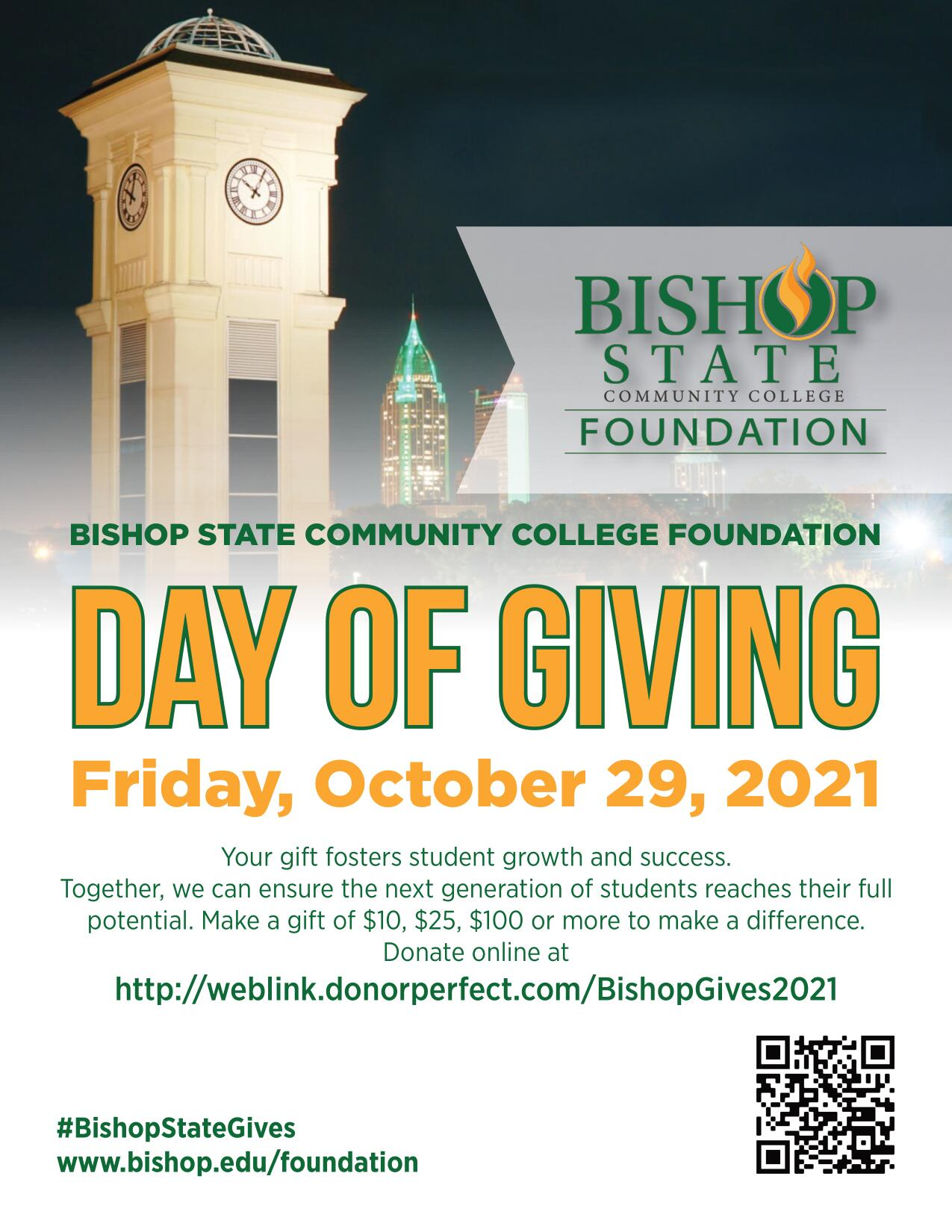 Bishop State Community College Foundation Mobile AL - Day of Giving - October 29 2021