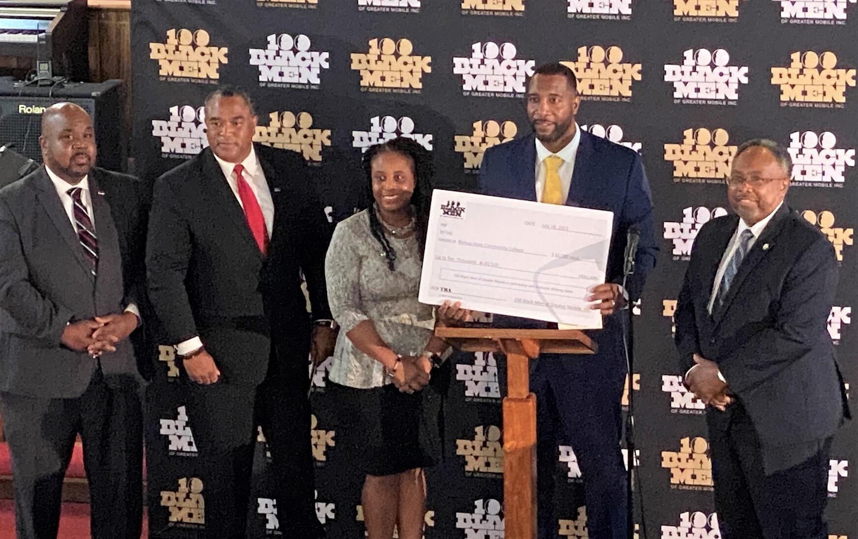 Bishop State - Hancock Whitney - 100 Black Men of Greater Mobile Inc - Scholarship